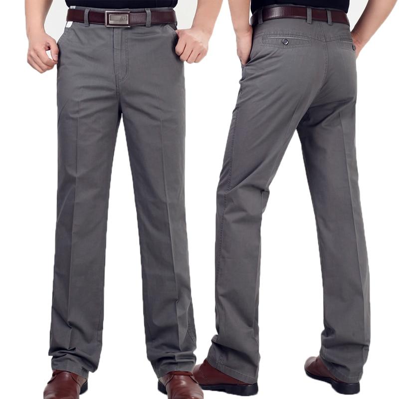 Pants Men Size29 42 Spring Autumn Straight Pant 100 Cotton 55 120 kg Men Wear Comfortable Pants Men Size29-42 Spring Autumn Straight Pant 100% Cotton 55-120 kg Men Wear Comfortable warm Trousers Male Clothing