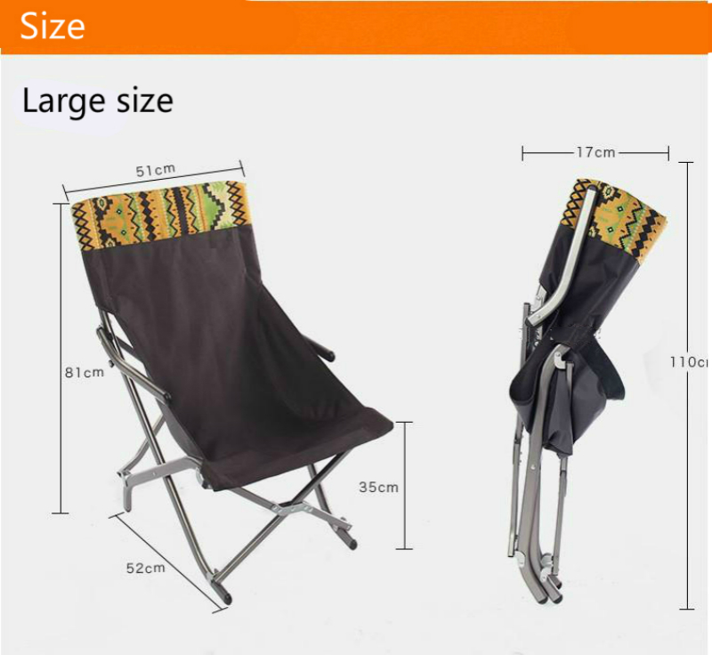 Folding Chair Portable Painted Wood Chairs Outdoor Ultralight Aluminum Alloy Fishing Sku 32900779207