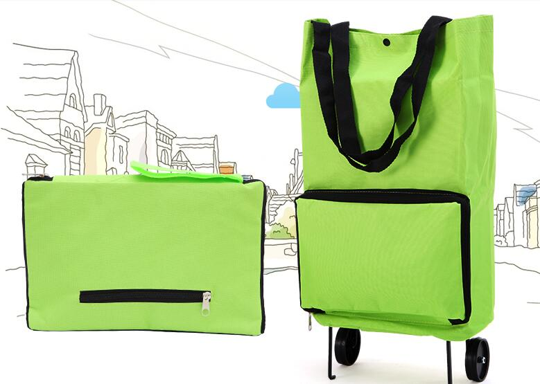Collapsible Foldable Rolling Shopping Bag On Wheels