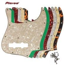 Pleroo Custom Guitar Parts - For MiJ Jazz Bass Made in Japan Guitar Pickguard Scratch Plate pleroo custom guitar parts for us standard jazzmaster style guitar pickguard scratch plate replacement electric guitar