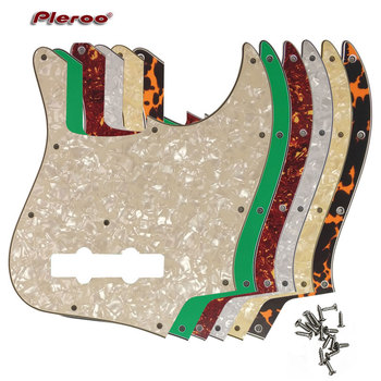 цена на Pleroo Custom Guitar Parts - For MiJ Jazz Bass Made in Japan Guitar Pickguard Scratch Plate