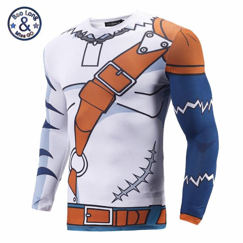 Digimon Adventure Digital Monster 3D T Shirts Men Tight Compression Bodybuilding Shirt YAGAMI TAICHI Greymon War Greymon Angemon