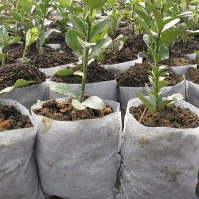 Hot Sale 100pcs Garden Pots Planters Jardin Seedling Bags Fiber