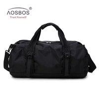 Aosbos 2017 Foldable Sports Bags Women Men Gym Bag For Fitness Multifunction Handbag Professional Outdoor Shoulder