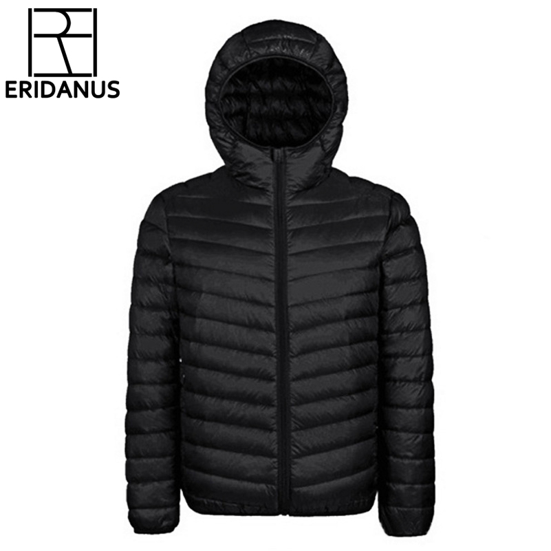 2017 Winter Jacket Men New Couples Coats Ultra-light Hooded Slim Fit Brand Cotton-Padded Solid Parkas White Duck Down 3XL X321
