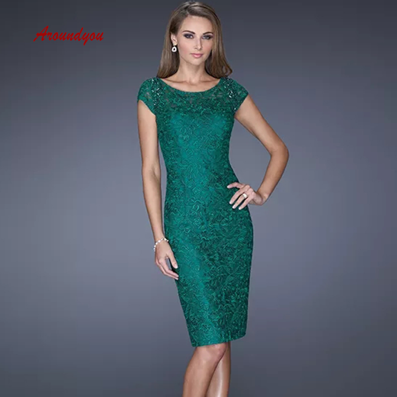 Green Lace Mother of the Bride Dresses for Weddings Party Plus Size Evening Gowns Groom Godmother Dinner Dresses 2019