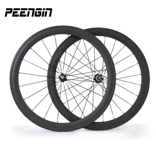 Qualité améliorée! fibre de carbone-route-vélo-roue pneu 50mm cyclistes japonais toray T1000 route tubulaire 23mm carbone vélo roues