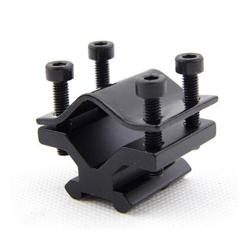 High Quality 1PCS Butterfly Barrel Clamp Accessory 20mm Weaver Scope Mount Rail Black