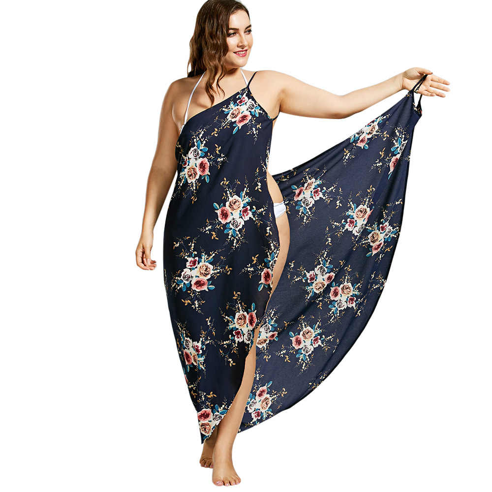 93ab8405f4843 Detail Feedback Questions about Gamiss Plus Size 2018 Tiny Floral ...