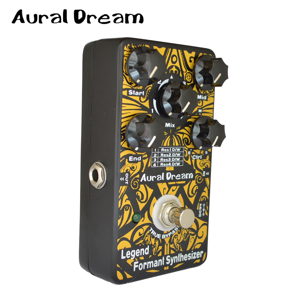 Aural Dream Legend Formant Synthesizer Guitar Effects Pedal with 3 Vowel(Front/central /Back ) and 4 Modes Dry / Wet Control vowel tajweed rules recognition using nnw