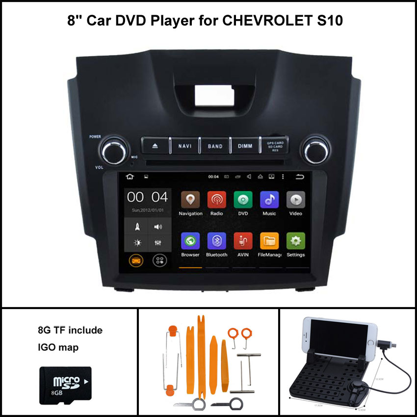 Android 7 1 Quad Core font b CAR b font DVD Player for CHEVROLET S10 COLORADO