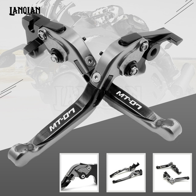 High Quality CNC Motorcycle Accessories Adjustable Folding Brake Clutch Lever For YAMAHA MT-07 FZ07 2014-2018 MT07 MT 07 FZ-07