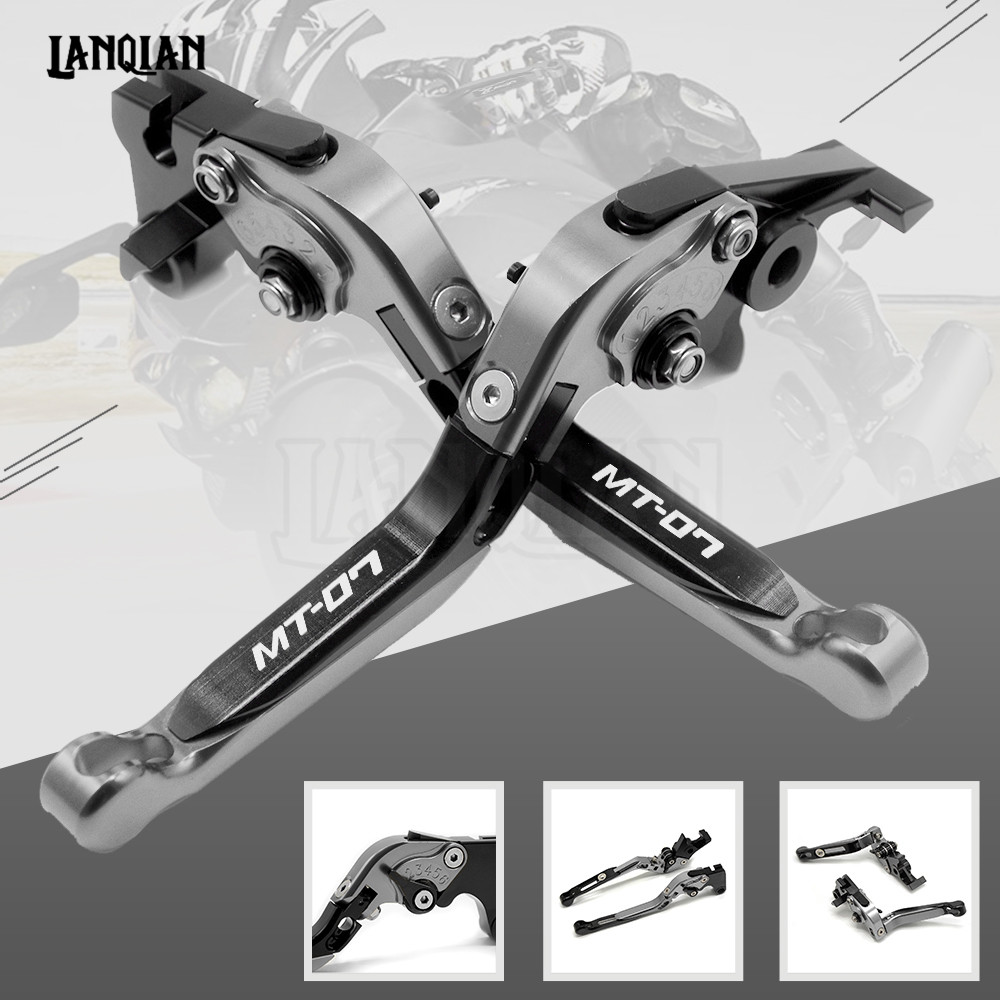 High Quality CNC Motorcycle Accessories Adjustable Folding Brake Clutch Lever For YAMAHA MT 07 FZ07 2014 2018 MT07 MT 07 FZ 07