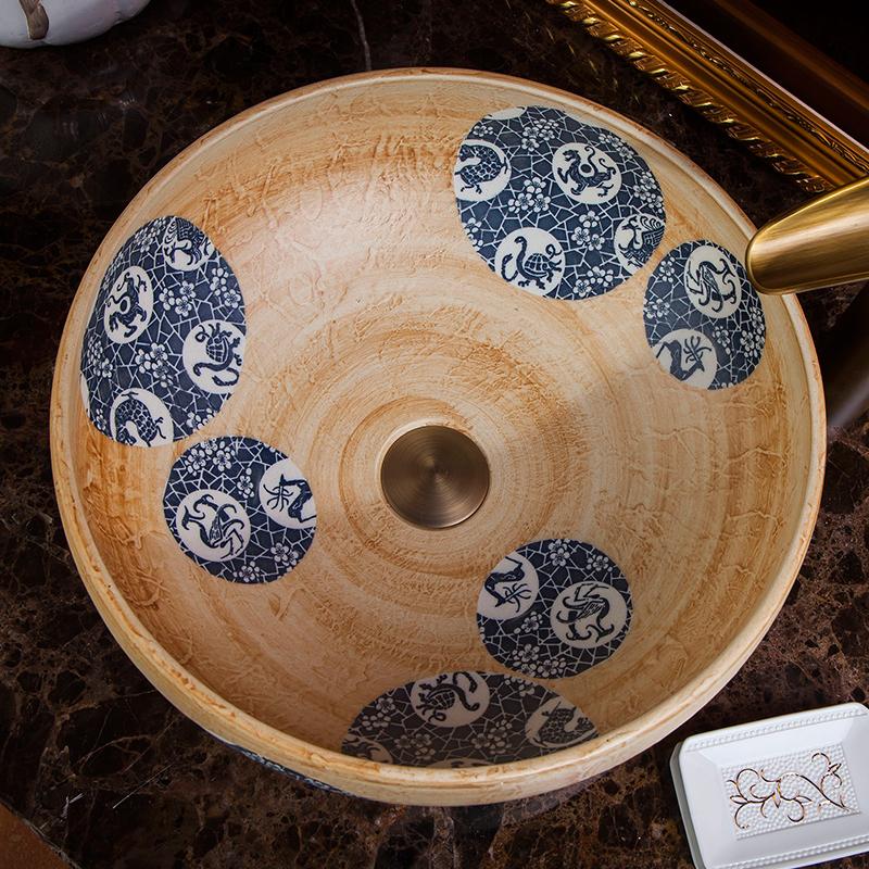 chinese Jingdezhen Art Counter Top ceramic traditional basin bowls (4)