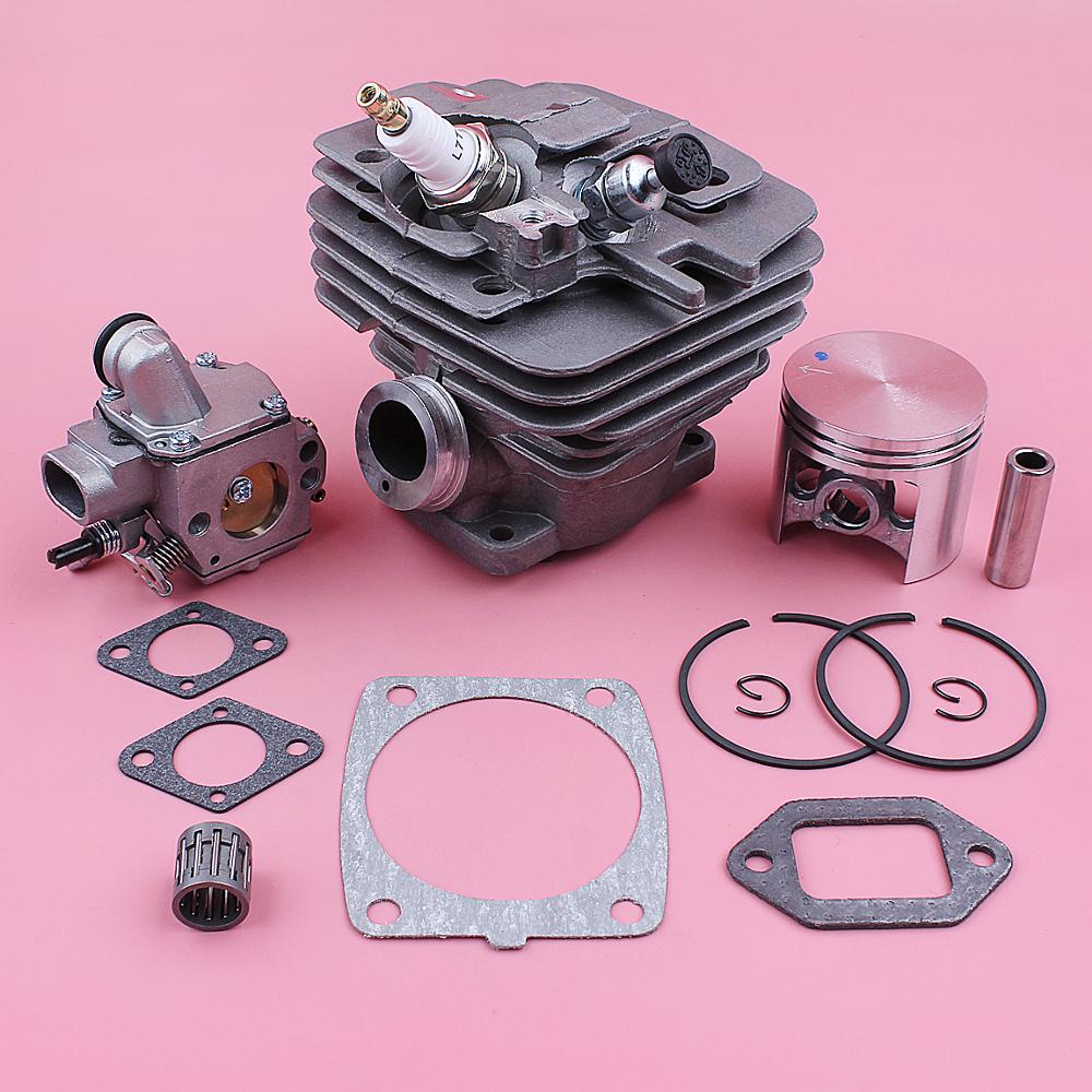 47mm Cylinder Piston Kit For Stihl MS361 MS 361 Carburetor Decompression Valve Bearing Gasket Chainsaw Replace Spare Tool Part