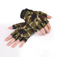 Bike Gloves Half Finger Como Army Green Anti Slip Tactical font b Fitness b font Sport
