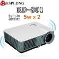 RD-801 Multimedia Video Proyector 2000 Lúmenes de Cine En Casa Proyector LED Proyector Con HDMI/USB/AV/VGA/ATV de Entrada LCD y LED Proyector