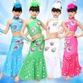 Костюмы павлин для девушки танцуют dress for children павлиний хвост костюм fancy dress белый розовый синий зеленый блесток костюмы