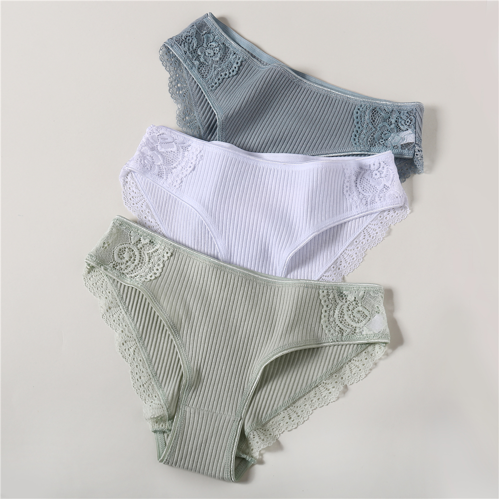 Women's Cotton Lace Panties 2019 Summer New Sexy Underwear Sexy Women Panties Briefs Comfort Underpants Size M L XL