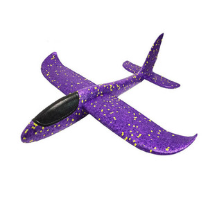 Image 4 - Kids Airplane Toy Hand Throwing Foam Plane Model 9 colors 35*35CM Outdoor Sports Planes Fun Toys For Kids Game Aircraft TY0369