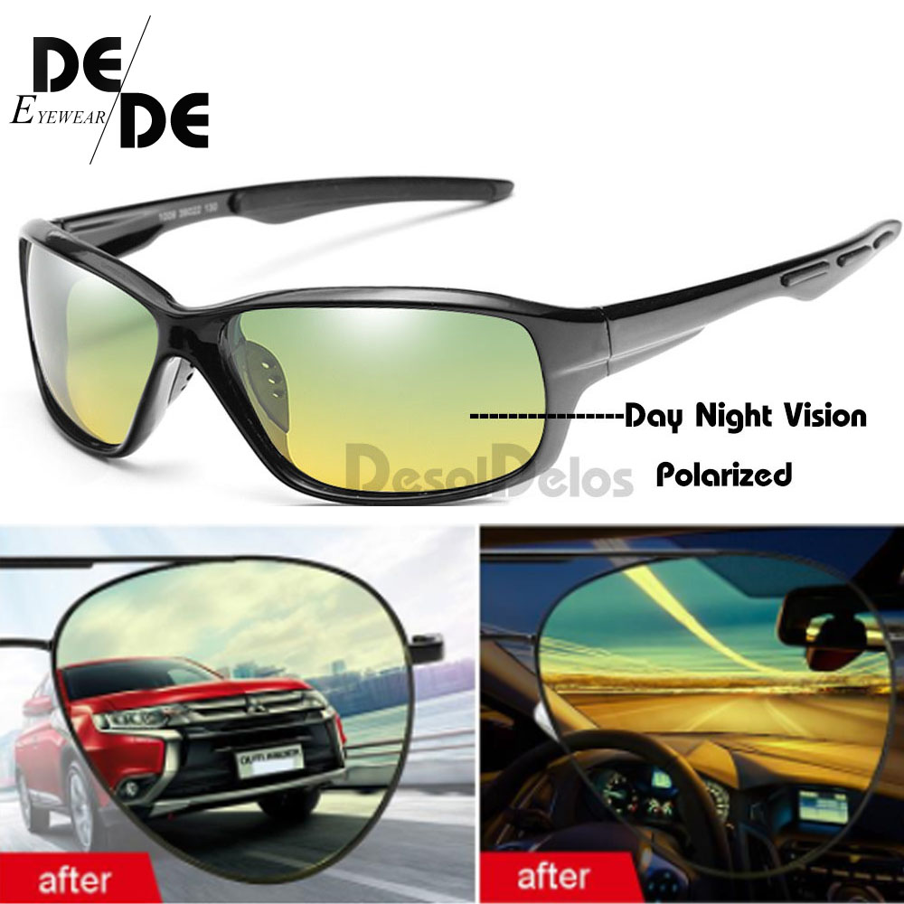 Polarized Glasses Multifunction Men Day Night Vision Sunglasses Reduce Glare Driving Sun Glass Goggles Eyewear