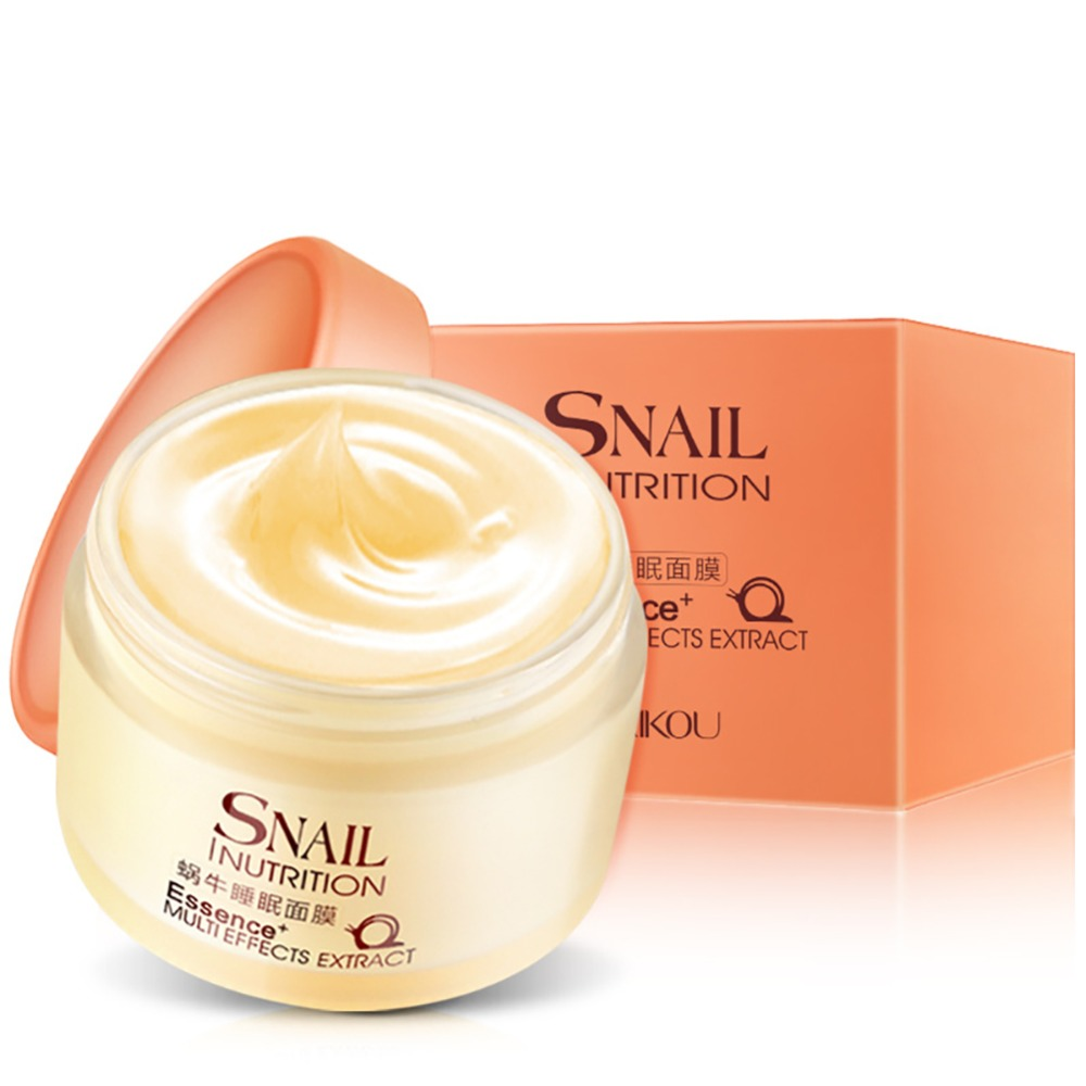 BTG 2018  Fashion Snail Sleeping Mask Essence Moisturizing Night Cream Anti Aging Wrinkle Cream