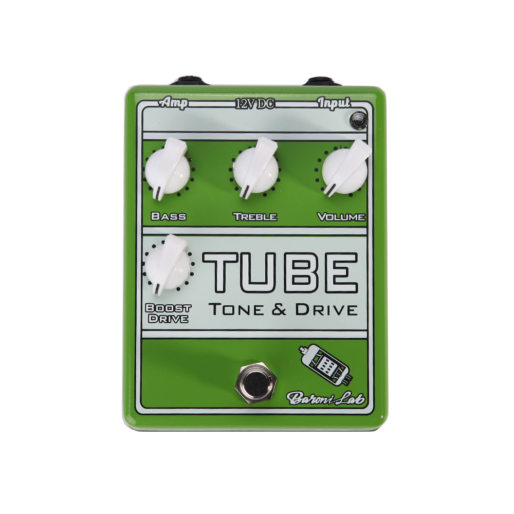 Italy Baroni Lab TUBES TONE & DRIVE Tube Overdrive Guitar Effect Pedal Stompbox True Bypass overdrive guitar effect pedal true bypass with 1590b green case electric guitar stompbox pedals od1 kits