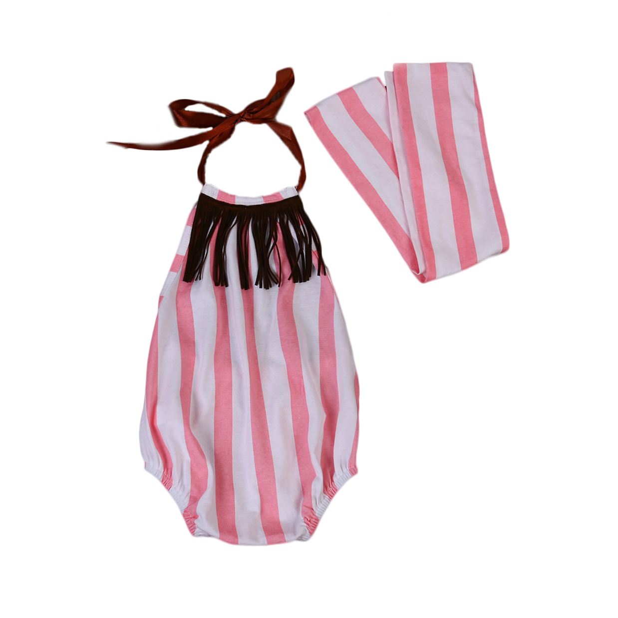 New Style Newborn Baby Girls Clothes Summer Sleeveless Rompers Floral Jumpsuit Headband Outfits Sunsuit Baby Clothing