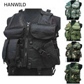 HANWILD Tactical Vest Safety Black US Navy Utility SWAT Assault Military Seal Modular Load Airsoft Combat Hunting Police Gun Top