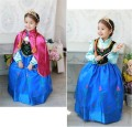 Retail 2017 new Children Clothing Anna princess dress,girls dresses+red cloak, Anna costume baby&kids clothing