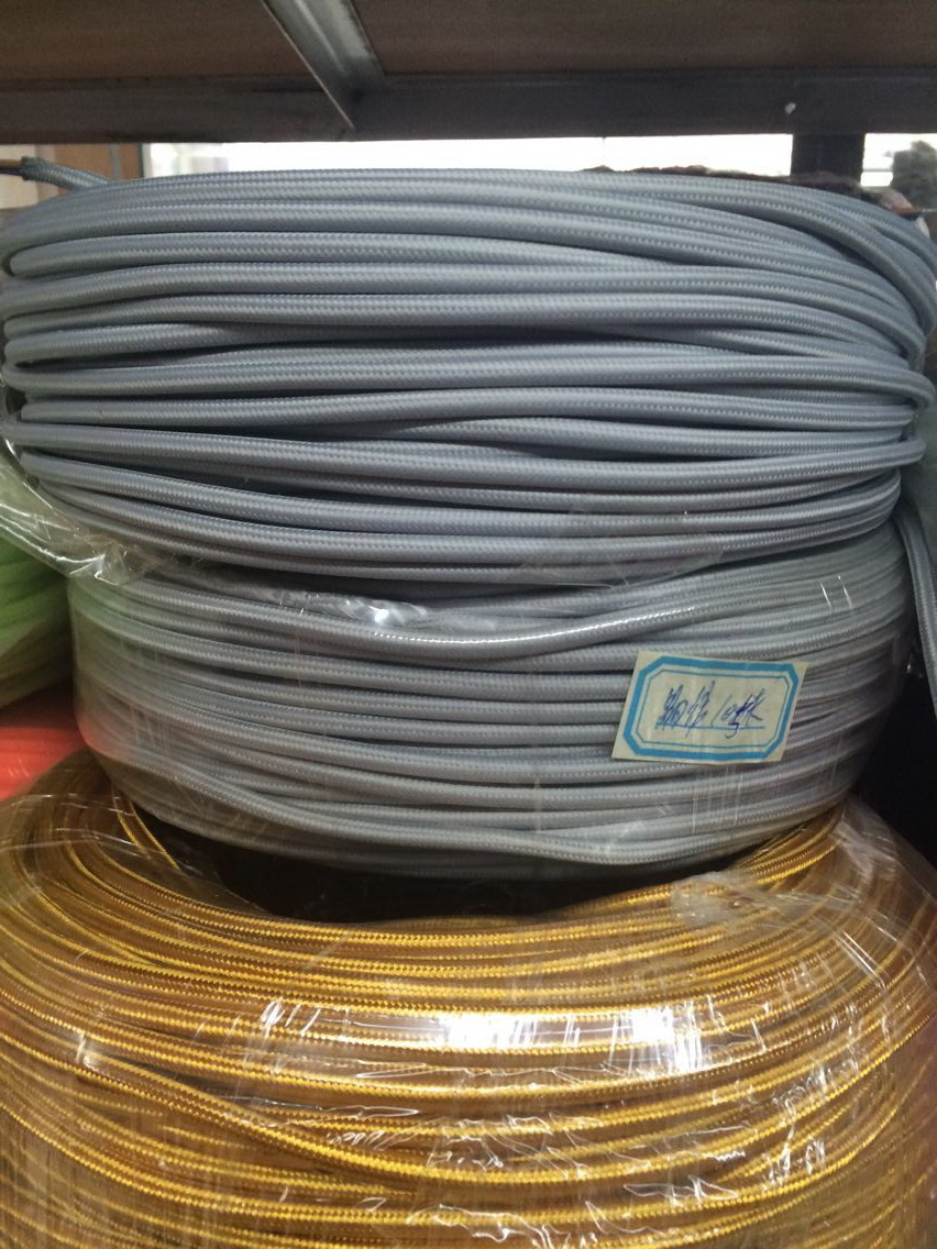 grey vintage cable 2 0 75 textile fabric electrical wire diy pendant light electrical cable woven braided cable power cord [ 852 x 1136 Pixel ]