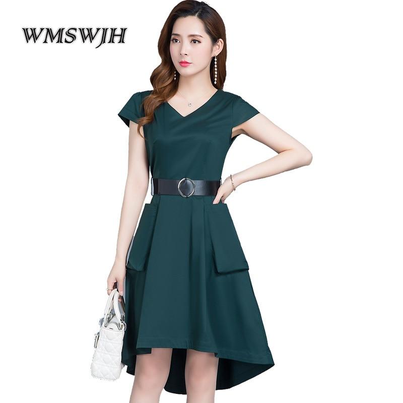 3d7b7d19cb82f9 Büro Schlanke Ol Kleider Kleid Plus ausschnitt Party Business Beiläufiges  Vestido red Tunika Dame Frauen green Elegantes ...