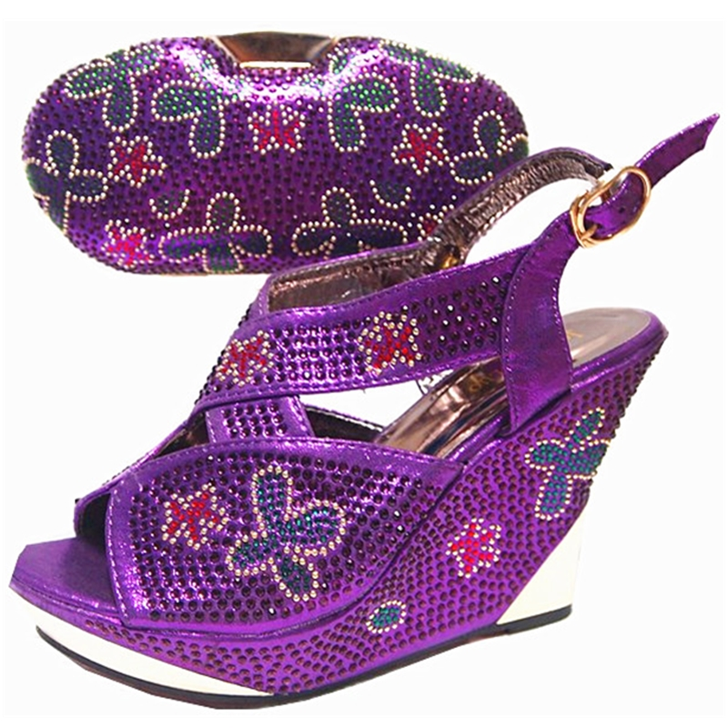 Image 4 - Sliver Color Italian Shoes and Bags To Match Shoes with Bag Set  Sales In Women Matching Shoes and Bag Set High Quality Shoes Bagshoe  and bagitalian shoes and bagsshoes with bags