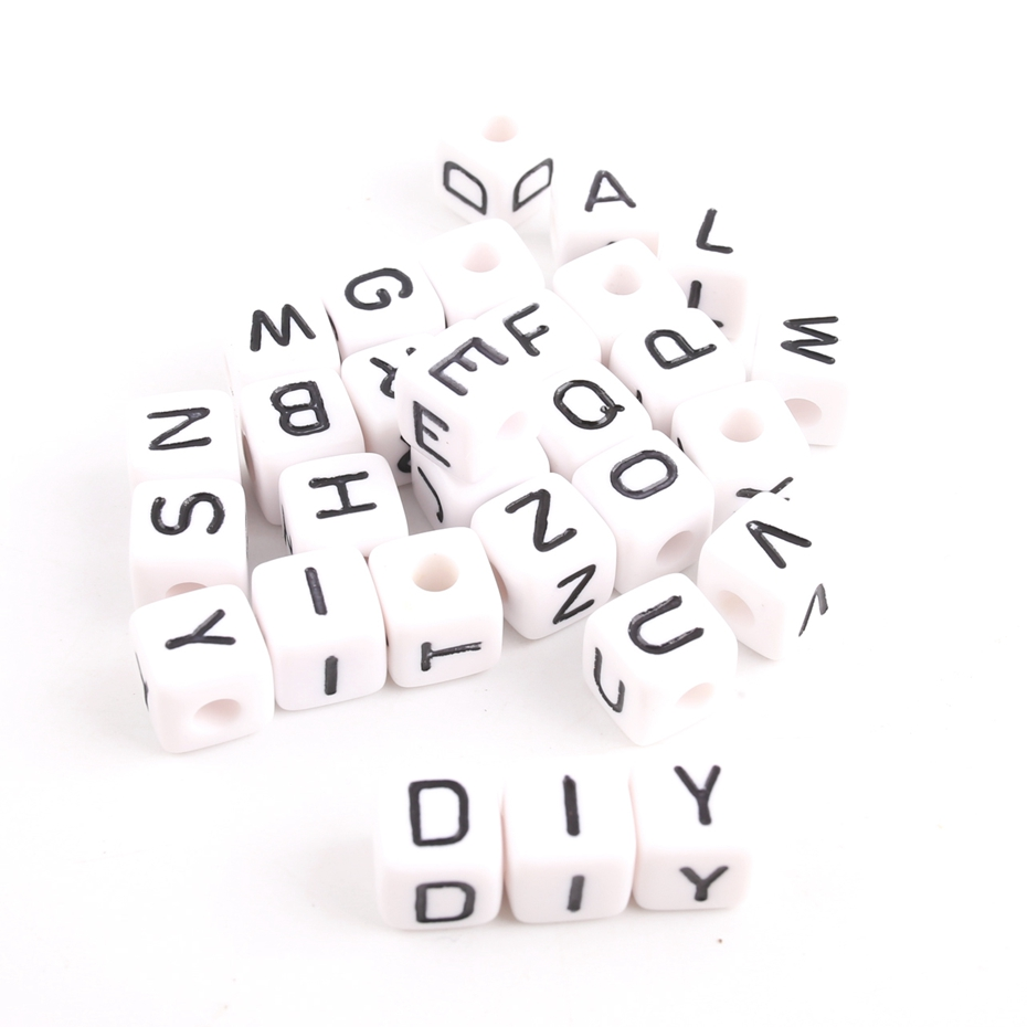 Bite Bites 26PC Alphabet Beads Acrylic Letters DIY Letter Beads For Bracelet Pacifier Clip Accessories For Necklace Baby Teether