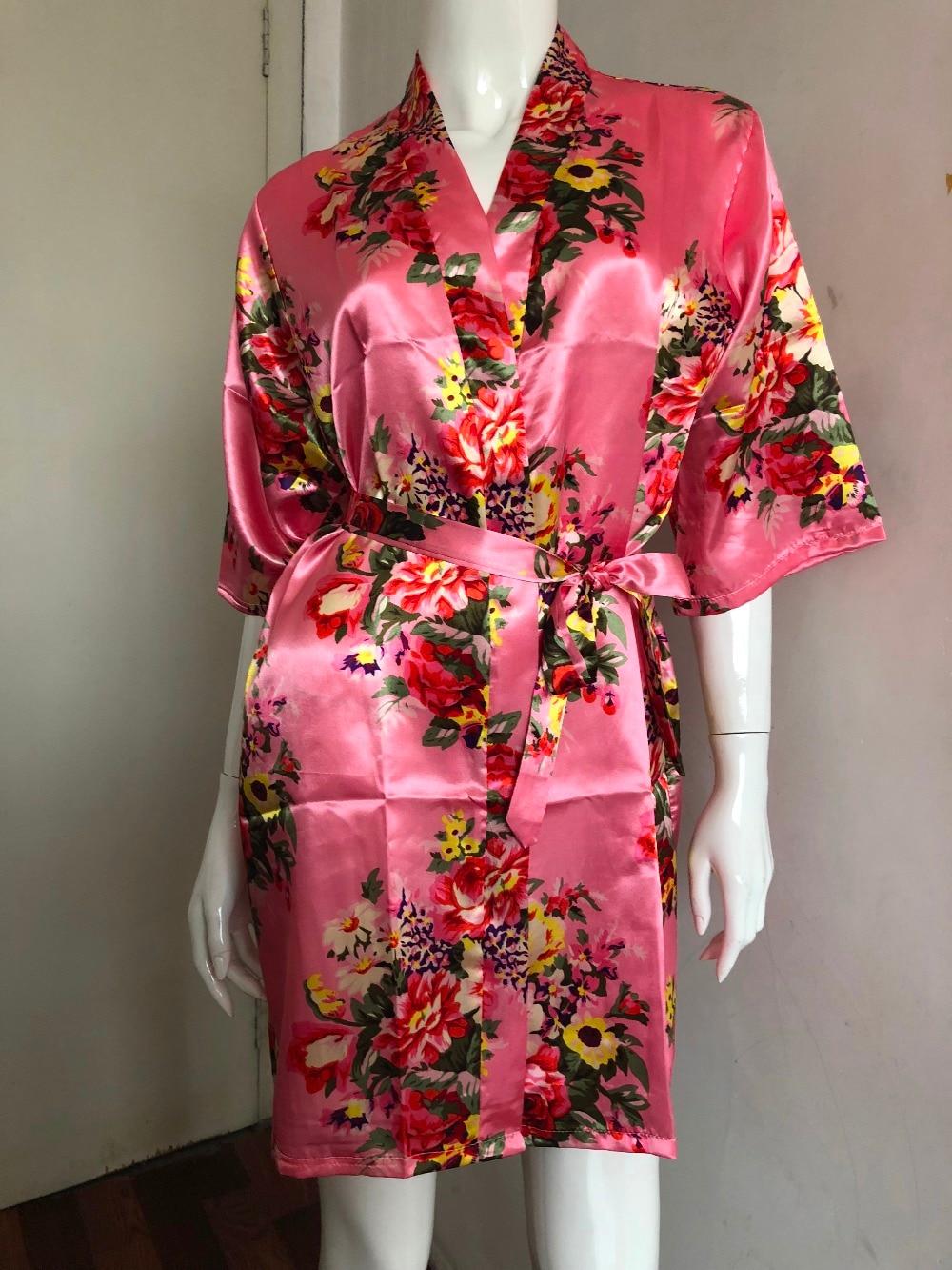 ᑎ‰2017 seda dama traje de novia sexy mujeres corto satén kimono ...