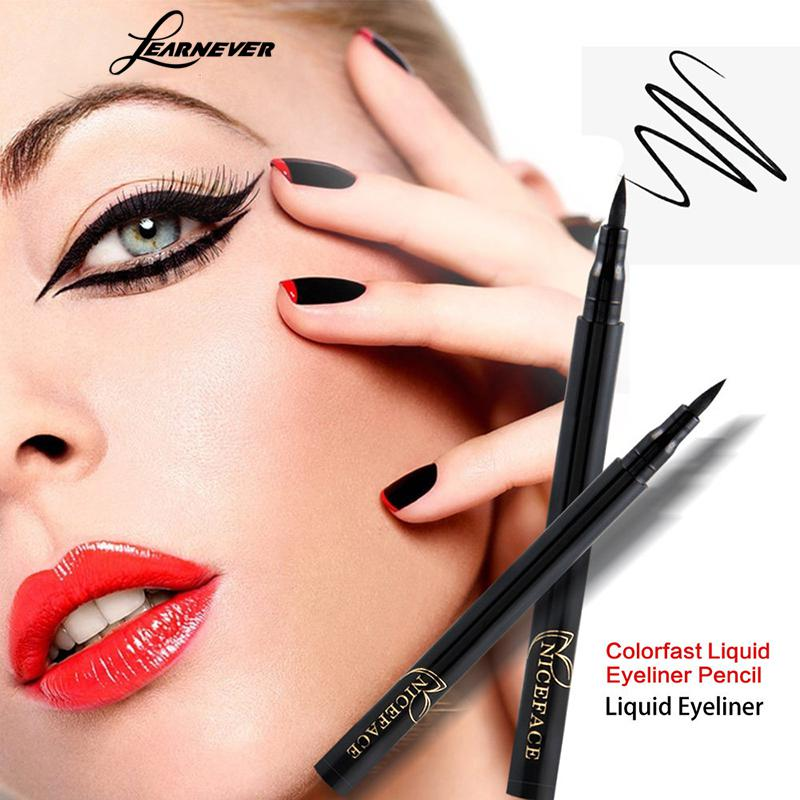 LEARNEVER Easy To Draw Black Eyeliner Waterproof Long Lasting Quick-dry Eyeliner Maquillaje Makeup Cosmetic No Smudge Eyeliner