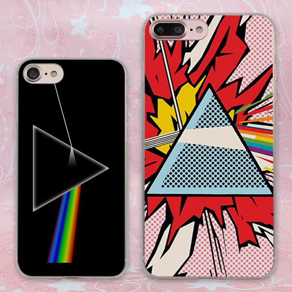 pink floyd triangle space planet colors design transparent clear Cases Cover for Apple iPhone 6 6s Plus 7 7Plus SE 5 5s 4s 5c