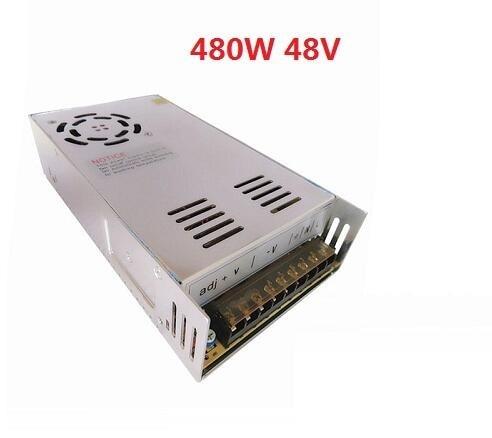 Pilote d'alimentation à découpage 48 V 10A 480 W pour lumière LED d'affichage à bande AC100-240V