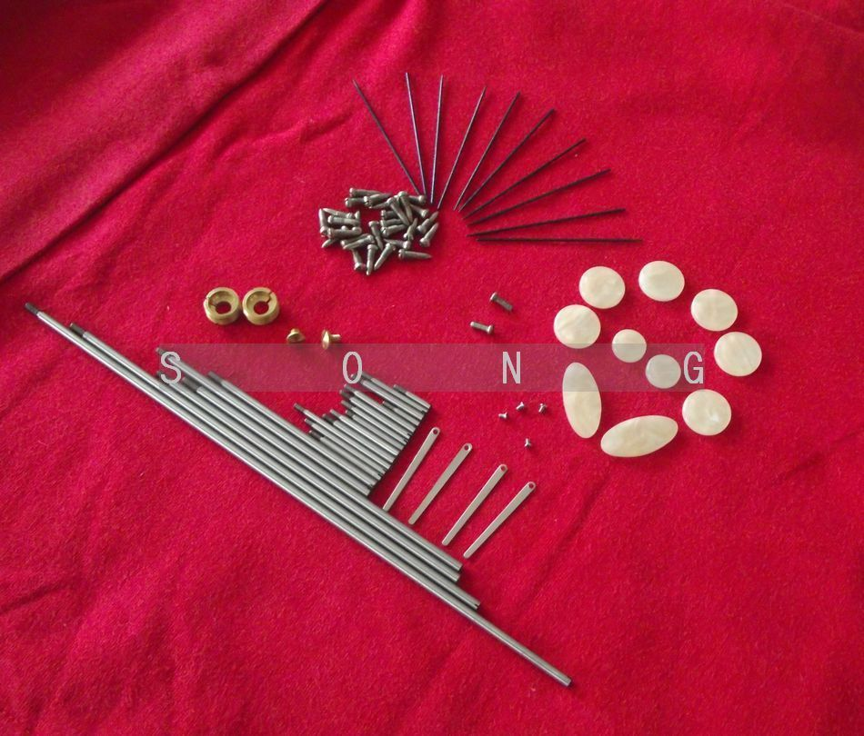 Tenor saxophone repair parts Rollers screws Spring and key buttons inlays