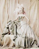 1890 s מחוך ויקטוריאני גותי/מלחמת אזרחים בדרום Belle כדור שמלת שמלות