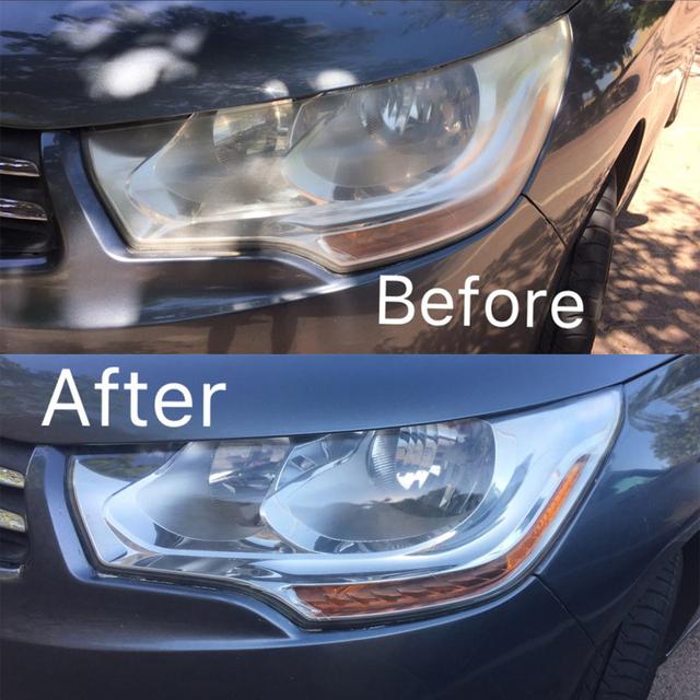 Visbella Headlight Restoration Kit DIY Headlamp Brightener for Car Auto Care Head Lamp Lense Repair Clean Light Polishing Paste
