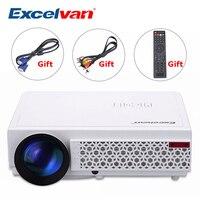 Excelvan светодиодный 96 + 3000 люмен Светодиодная с долгим сроком службы Full HD LED домашнего кино ТВ проектор 3D LCD Мультимедиа Видео игровой проектор