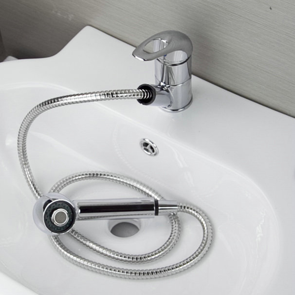 Novel Design and Reasonable in Price Extend Basin Faucet Chrome Pull Out Single Hole Single Handle Hot Cold  Mixer Kitchen Tap kitchen chrome plated brass faucet single handle pull out pull down sink mixer hot and cold tap modern design