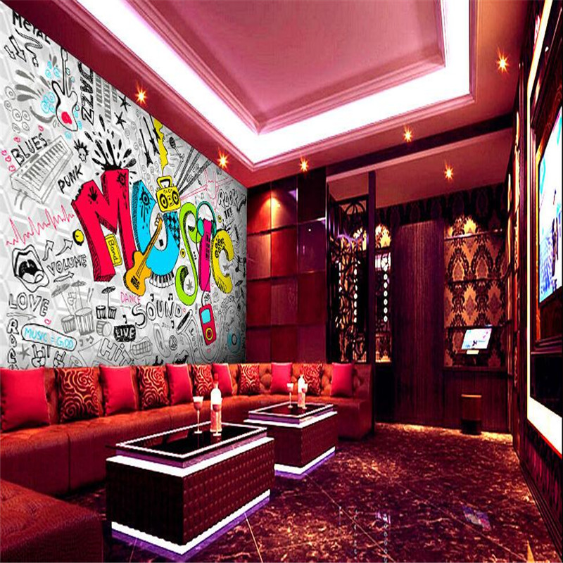 Living Room Nightclub aliexpress : buy wallpaper 3d living room retro wall white