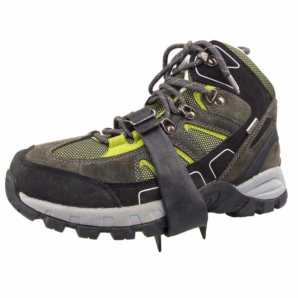 1ad3d56ed10 New 1 Pair Mountain Boots, Ice/ Snow Crampons Teeth 4 Covers Rainy Day  Anti-Slip for Outdoor Black