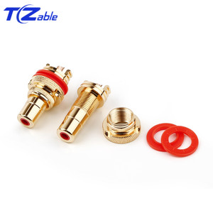 Image 4 - HiFi Plug Connector RCA Audio Connector Female Socket Chassis For CMC Connectors Rhodium Plated Copper Jack Copper Plug