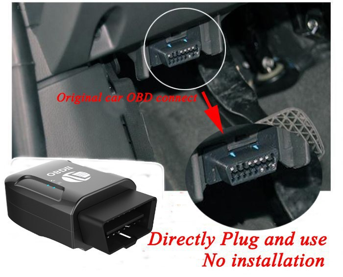 GPS306A TK206 OBD 2 real time gsm Quad Band Anti theft vibration alarm GSM GPRS Mini