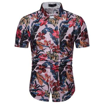 Flower Men Shirt 3D Floral print Slim fit Short Sleeve Summer Blouse Men Hawaiian style New model Shirts hawaiian shirt men camisa social flower summer long sleeve new model shirts mens floral blouse men clothing