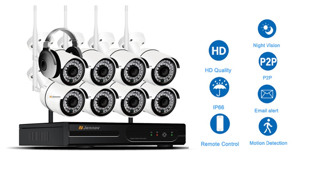 8ch 1080 p 2mp câmera ip registro