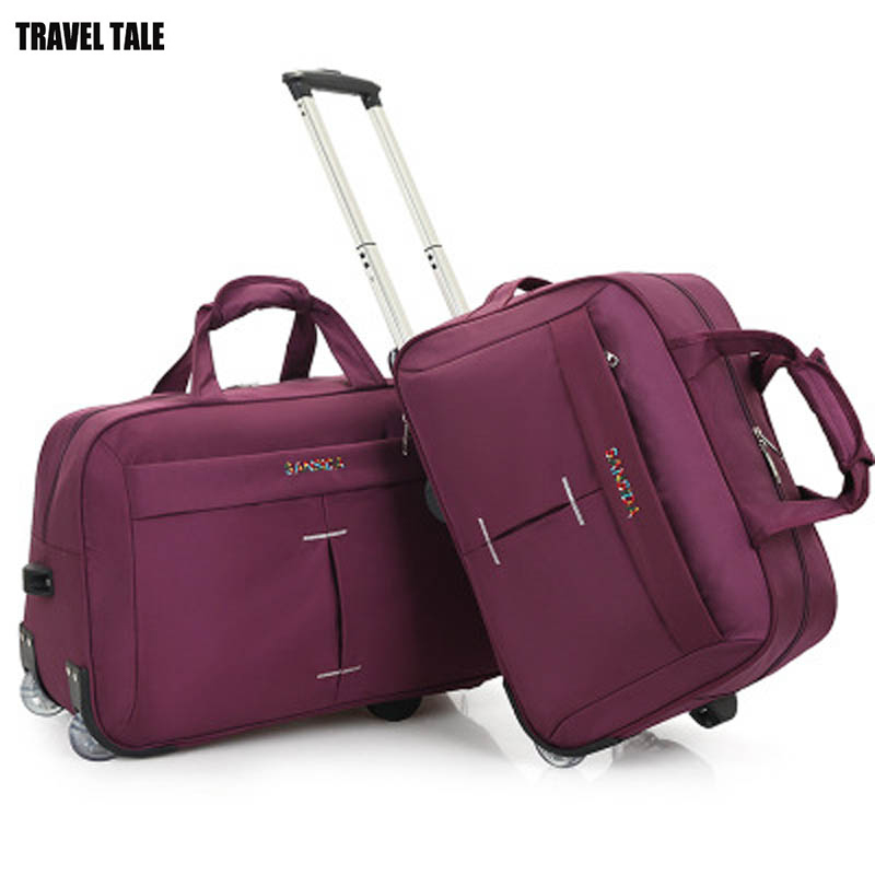 20 Quot 24 Inch Trolley Travel Bag Hand Luggage Rolling Duffle